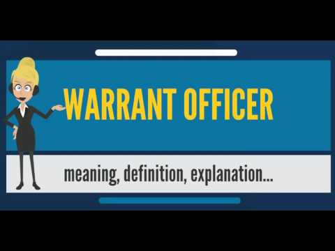 What is WARRANT OFFICER? What does WARRANT OFFICER mean? WARRANT OFFICER meaning