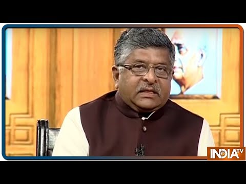 Ravi Shankar Prasad In Aap Ki Adalat (Election Special)