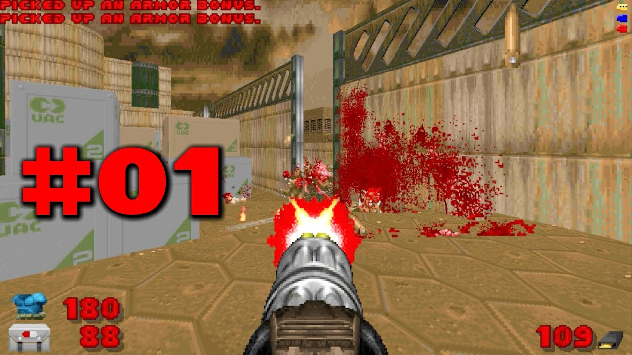 Doom Ii No Rest For The Living Gameplay Walkthrough Map01 The