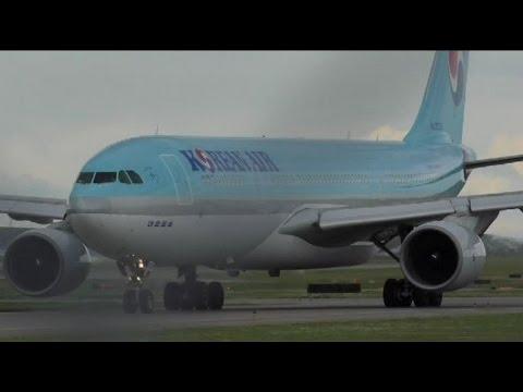 Korean Air A330-223 [HL7538] Landing and Takeoff at Calgary Airport ᴴᴰ