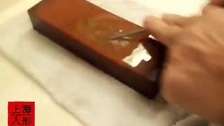 アイスピックの砥ぎ方・How to sharpen ice pick to the conical・Comment aiguiser pic à glace à la conique