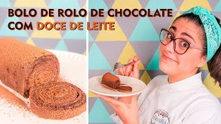 Receita - Bolo de Rolo de Chocolate com Doce de Leite