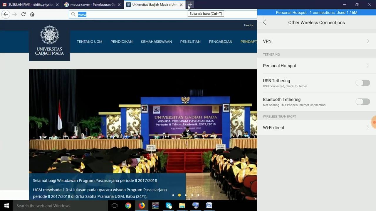 Keyboard Laptop Rusak, Solusianya 'WIFI MOUSE TUTORIAL'