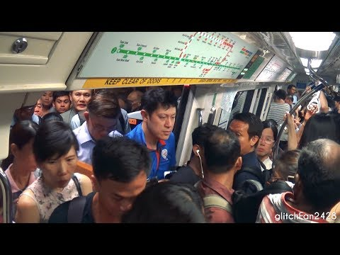 [SMRT] A Typical Peak Hour Commute on the Singapore MRT - 2017