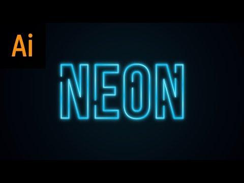 NEON Text Effect Illustrator Tutorial