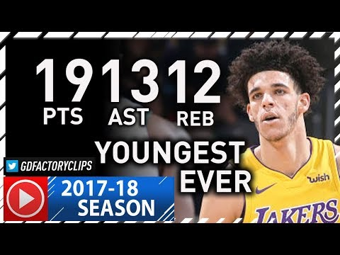 Lonzo Ball 1st Triple-Double Highlights vs Bucks (2017.11.11) - 19 Pts 13 Ast, 12 Reb, MAKES HISTORY