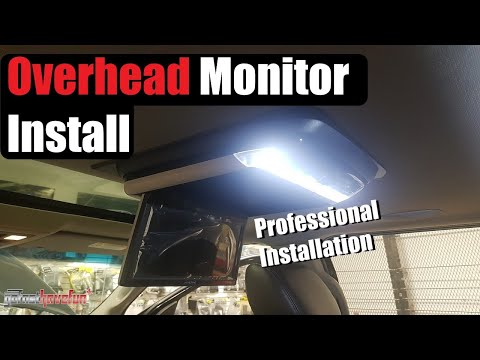 Overhead Screen / Monitor DVD player Installation (Alpine PKGRSE2)