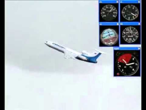 PULKOVO 612 Tupolev Tu-154 85185 Crash Simulation 08 22 06 WEATHER RADAR ATTENUATION EFFECT.flv