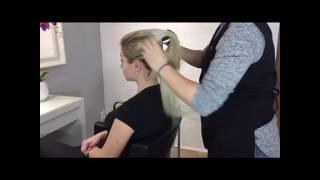 HEADSTYLER fryzura z dopinki clip in, kucyk, warkocz i kok