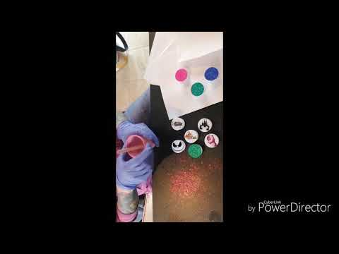 Easy Phone grip glitter and epoxy tutorial