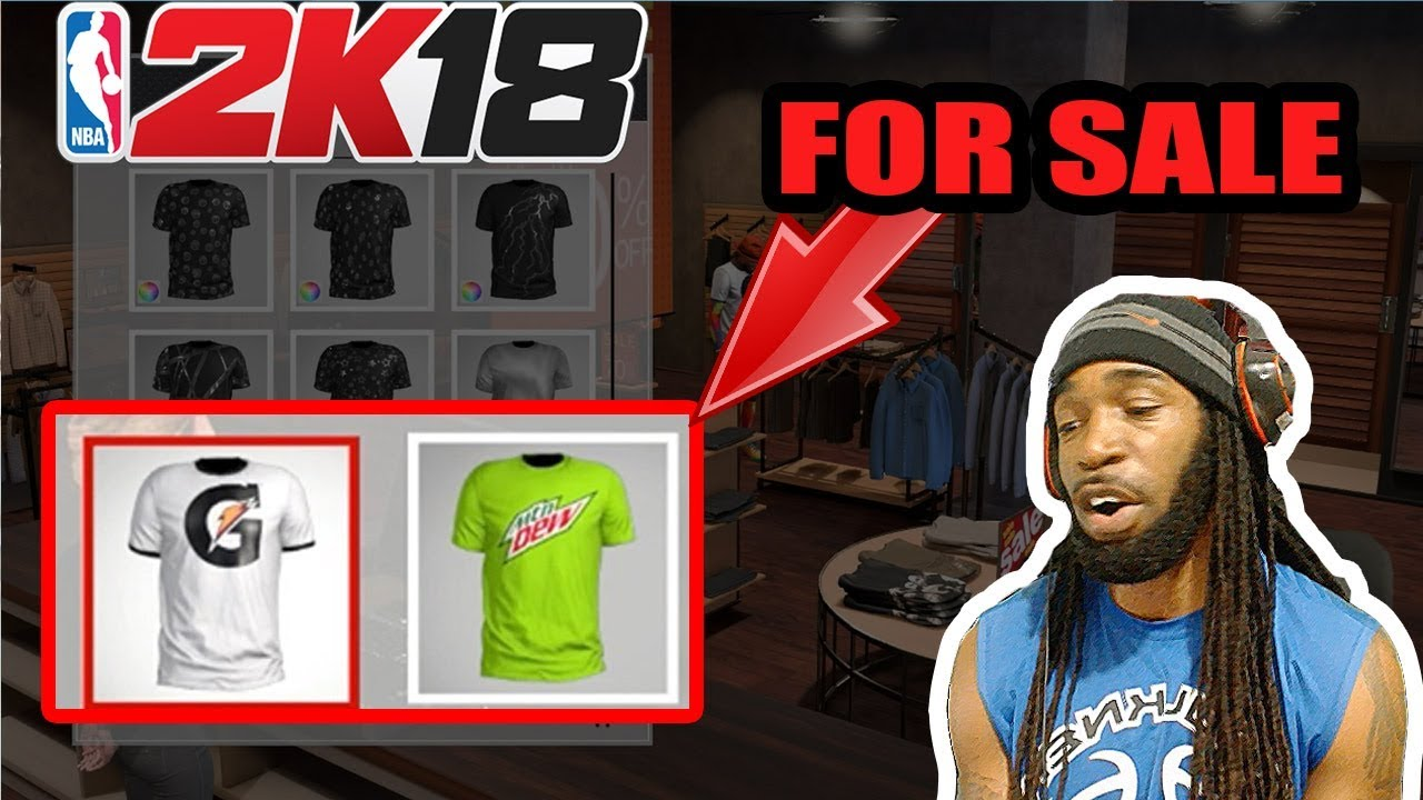NBA 2K18 TIPS - GATORADE AND MOUNTAIN DEW T-SHIRTS LOCATION IN NBA 2K18