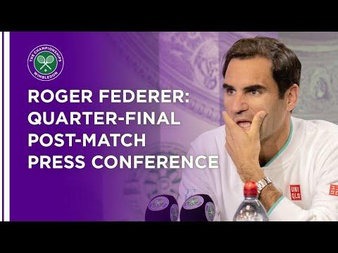 Roger Federer Quarter-Final Press Conference | Wimbledon 202