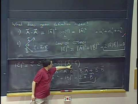 Lec 1  Mit 18.02 Multivariable Calculus, Fall 2007