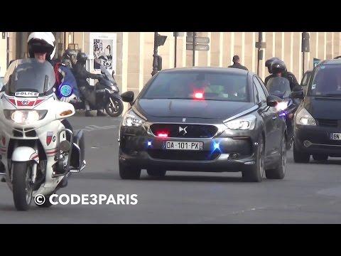 Police Escort President Of France