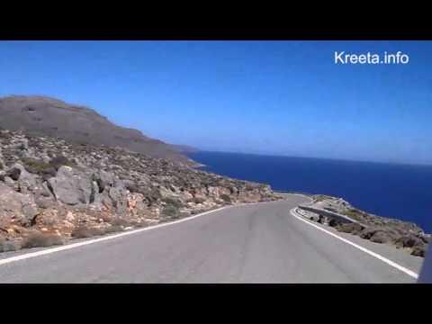 Driving down to Kato Zakros with motorbike