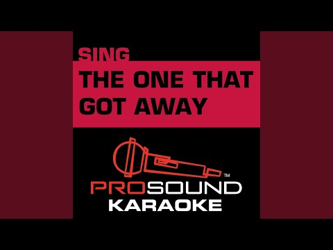 The One That Got Away (Karaoke with Background Vocal) (In the Style of the Civil Wars) mp3