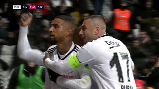 Kevin-prince boateng scored during his debut with besiktas in the 70th minute to collaborate win over gazisehir gaziantep turkish super lig.#...