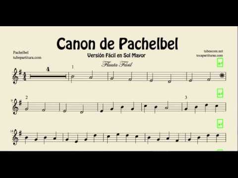 Pachelbel Canon Easy Sheet Music for Flute