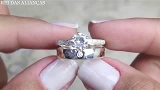 cde28f0167a Anel de Noivado Casamento Compromisso Cód. 827 - Rei das Alianças