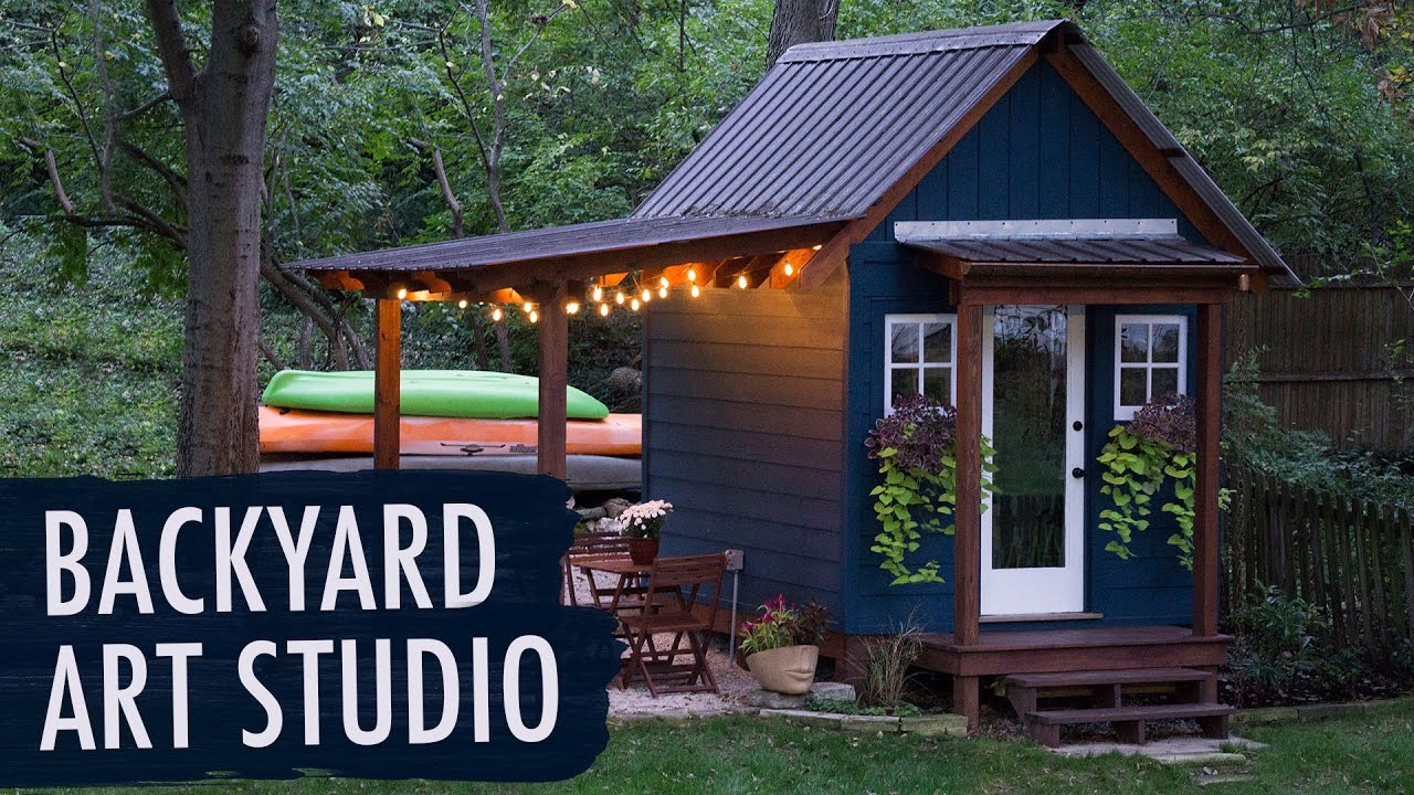 Backyard Art Studio | My Art Story - YouTube