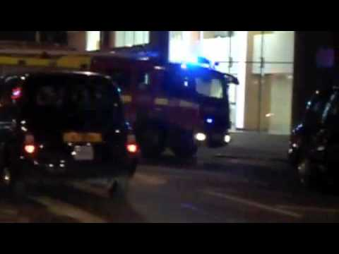 unmarked Police Vehicle And LFB Pump A241 In Soho - London