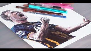 Pen Drawing Of Harry Kane - Tottenham Hotspur F.C - Freehand Art
