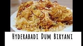 Hyderabadi Chicken Dum Biryani [ Restaurant Style ] | How to make Chicken Dum Biryani |