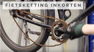 Fietsketting inkorten - Oude fiets ketting repareren