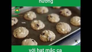 Macca VIP: Hướng dẫn làm Bánh quy nướng với hạt Mắc ca & Việt quất