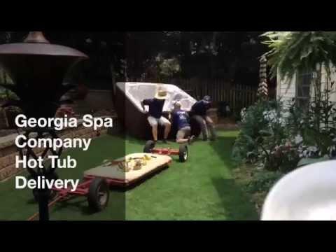 Georgia Spa Company Hot Tub Delivery Time Lapse