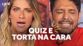 Quem leva torta na cara no desafio do Quiz? Giovanna Ewbank e Renner Souza | AMORES DO GIOH no GNT