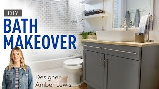 Blogger Vs. Builder Grade Bath: Amber Interiors