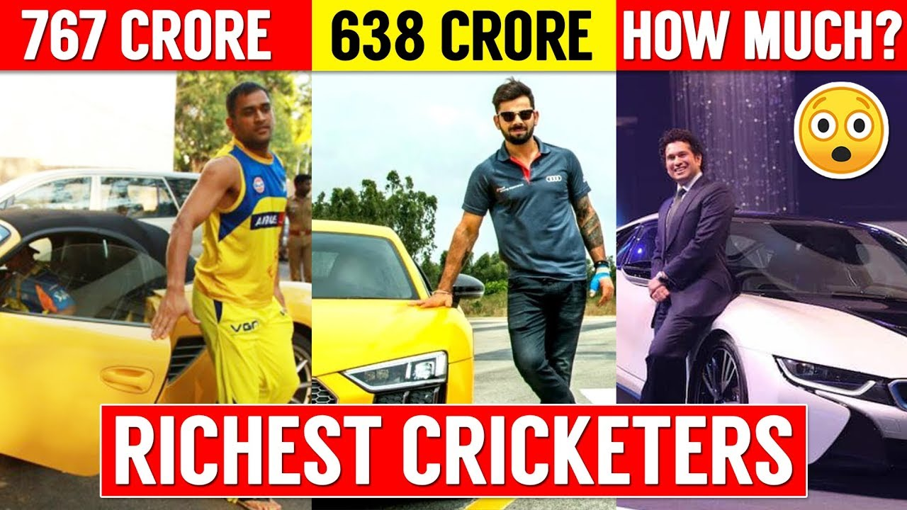 TOP 10 RICHEST CRICKETERS IN THE WORLD | Virat Kohli | MS Dhoni | Salary Net Worth