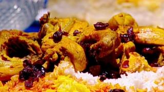 الدجاج المحمر مع الأرز البسمتي الملون - ايمان عماري