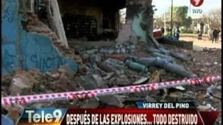 Virrey del Pino: Después de las explosiones… Todo destruido