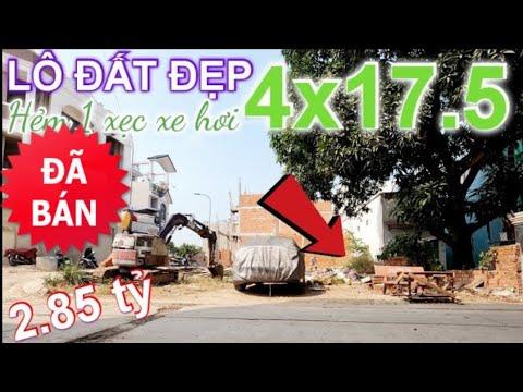 """Bán lô đất RỘNG 4×17.5"""" Mặt Tiền Hẻm xe hơi"""" có sổ hồng riêng – đường số 6 quận Bình Tân"""
