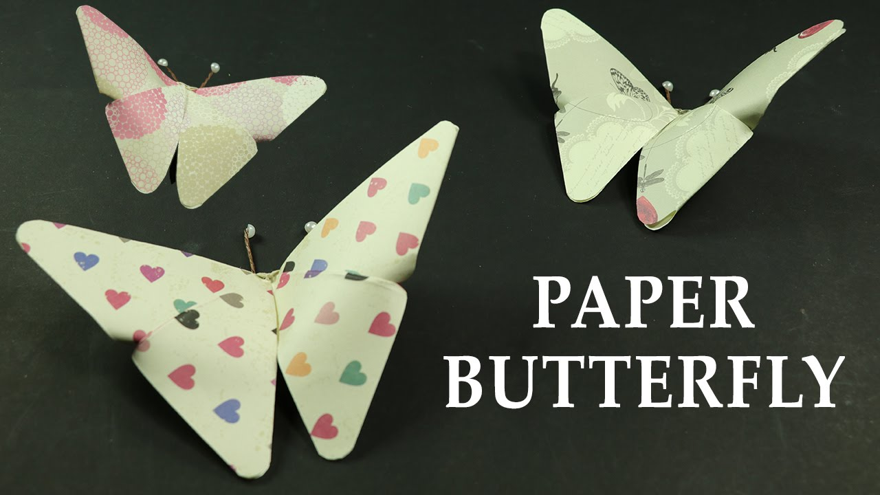 DIY Paper Crafts How To Make Butterflies Wall Decor Art