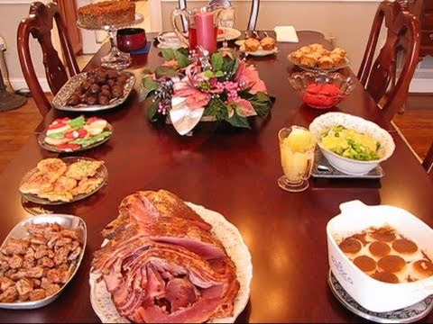 Betty S Christmas Dinner Table 2010 Youtube