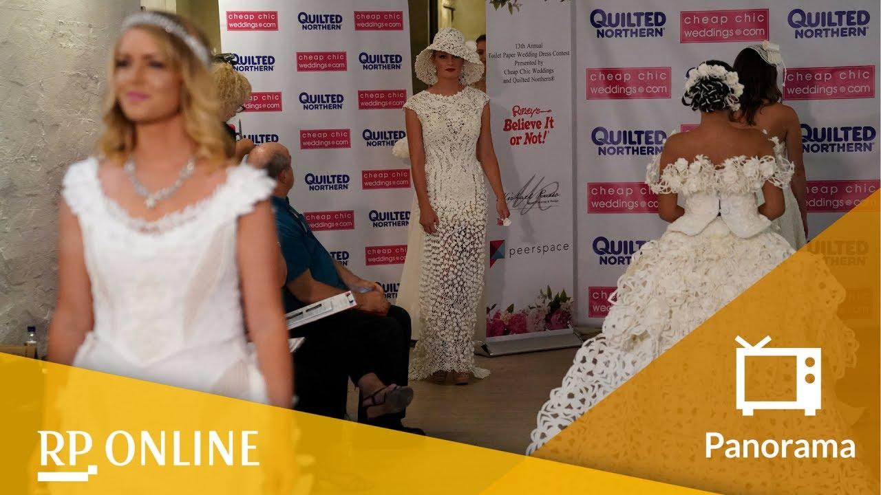 Wettbewerb in New York: Diese Brautkleider sind aus Klopapier
