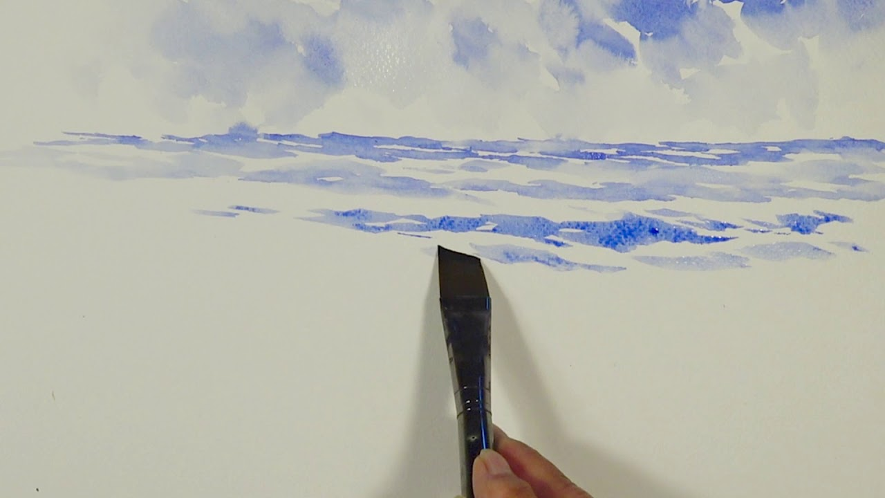 J Anna Paints Water And Sky In Watercolor