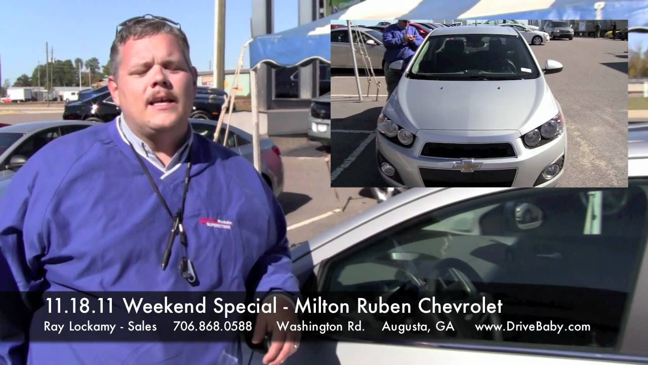 11.18.11 Weekend Special   2012 Chevy Sonic   Milton Ruben Chevrolet   Ray  Lockamy
