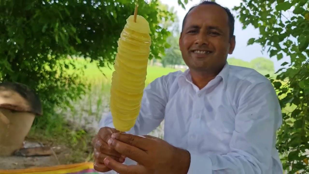 Tornado Potato Recipe | Spiral Fried Potato | Tornado Fries | Mubashir | Village Food Secrets