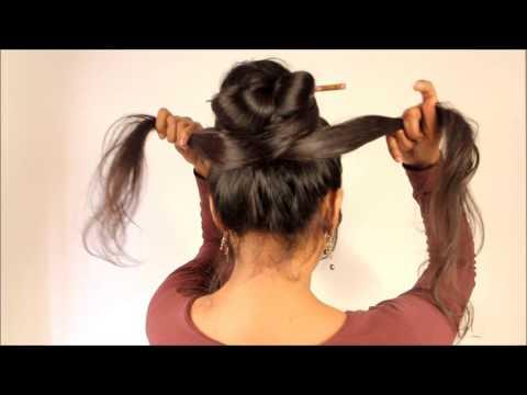 Hairstyles Make Hairbun Using Chopstick Hair Clip