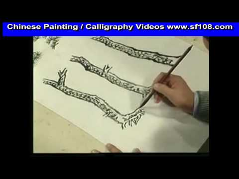 pinetree chinese painting lessons for beginners part 4 youtube. Black Bedroom Furniture Sets. Home Design Ideas