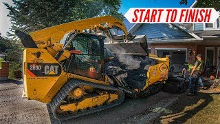 Paving An Entire Driveway (COMPLETE PROJECT)