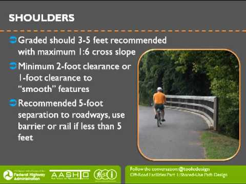 AASHTO Bike Guide: Off Road Facilities: Shared Use Path Design Oct. 9, 2012