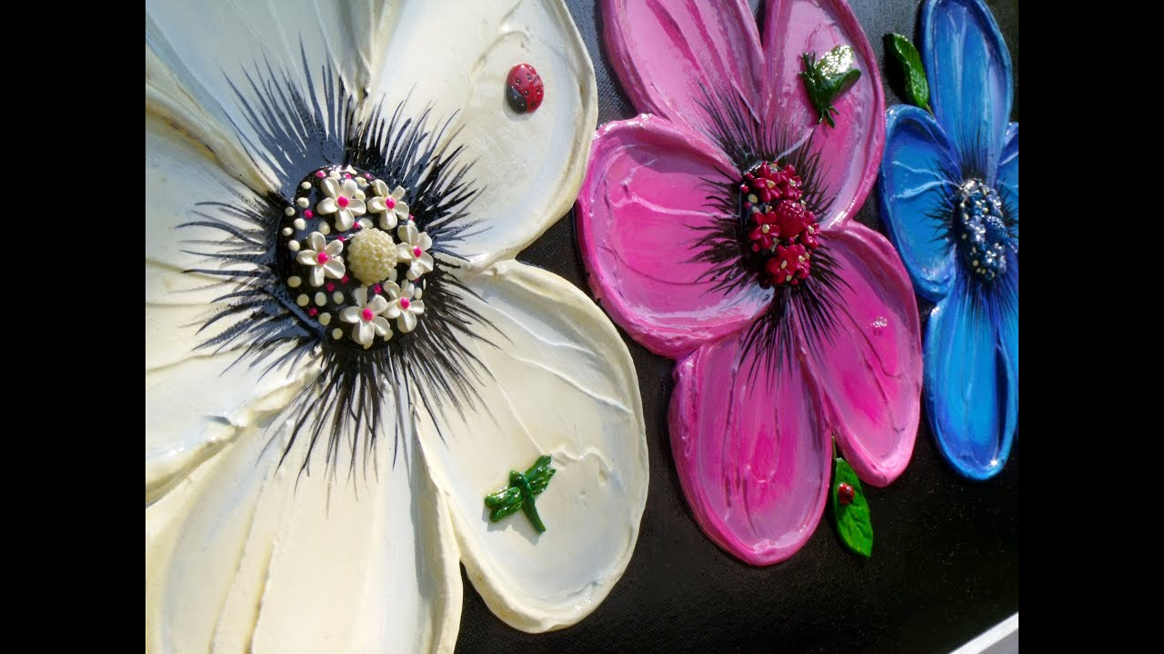 How to Paint Flowers Acrylics - Artvilla