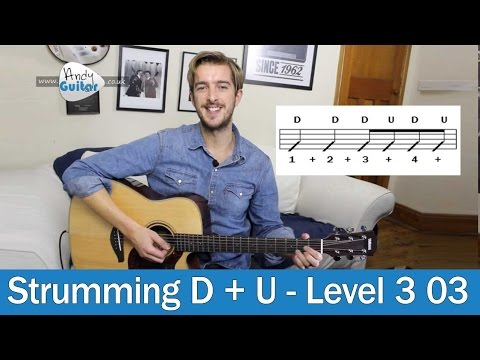Down & Up Guitar Strumming (Level 3 03) Strumming Patterns for Beginners