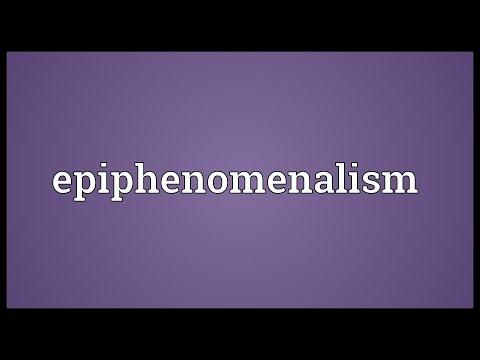 Epiphenomenalism Meaning