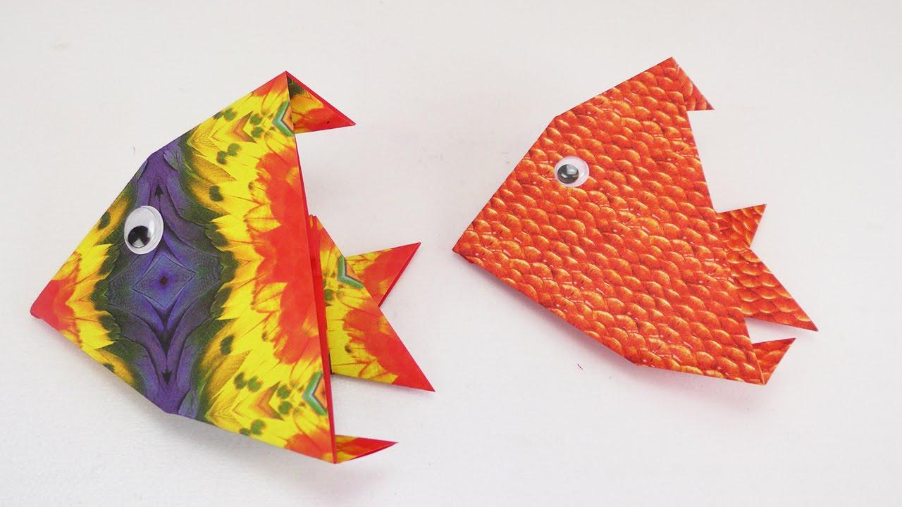 Papercraft Süßen Fisch falten | Kinderleicht & total niedlich | Origami Anleitung | Anfänger